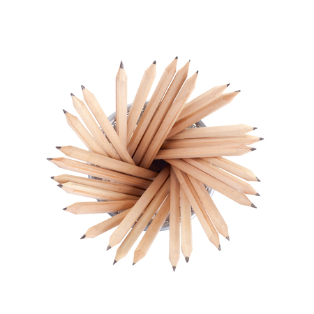 Pencils in a basket,Topview