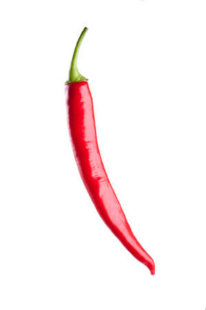 relish: red chili or chilli cayenne pepper isolated on white background Stock Photo