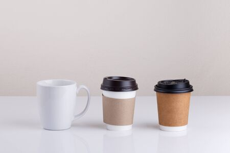 takeout: Take-out coffee with cup holder and cup