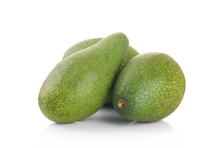 hass: Avocados isolate on  white background Stock Photo