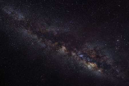 outerspace: beautiful milkyway on a night sky Stock Photo