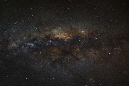 vulpecula: Panorama Milky Way galaxy, Long exposure photograph, with grain.