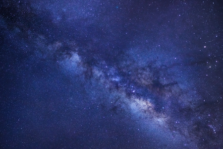 vulpecula: Milky way galaxy with stars and space dust in the universe