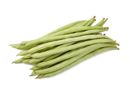 snap bean: green beans or string beans isolated on white background Stock Photo