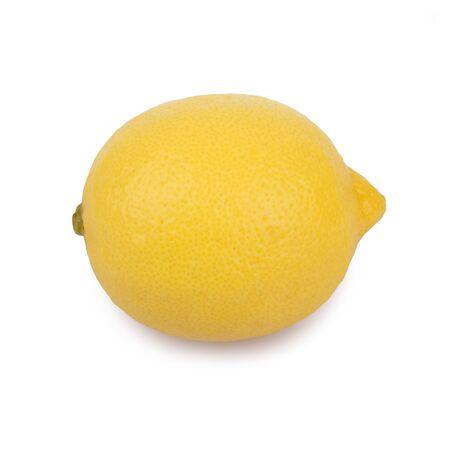 Fresh lemons on white background Lizenzfreie Bilder