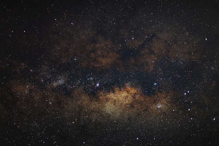 astro: Core of Milky Way. Galactic center of the milky way, Long exposure photograph,with grain