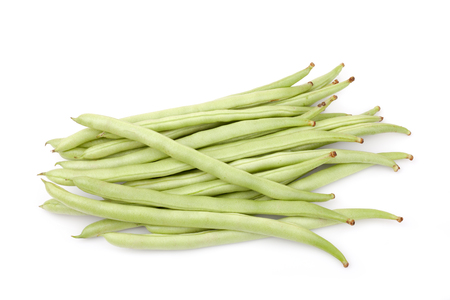 green beans or string beans isolated on white background Stock Photo