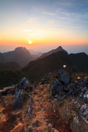generic location: Landscape high mountain sunset at Doi Luang Chiang Dao, in Chiang Mai Province, Thailand