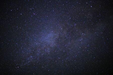 Melkachtige melkweg met sterren en ruimte stof in het universum Stockfoto