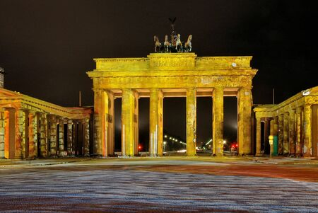 brandenburg gate: Brandenburg Gate in Berlin, Germany with colorful lights