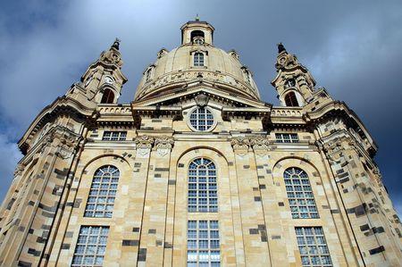 Front of Frauenkircke in Dresden, Germany