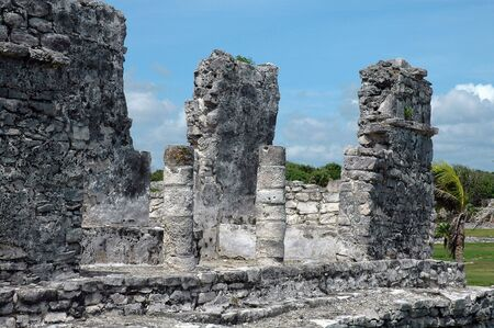 ��archeological site�: Archeological Site In Tulum, Mexico