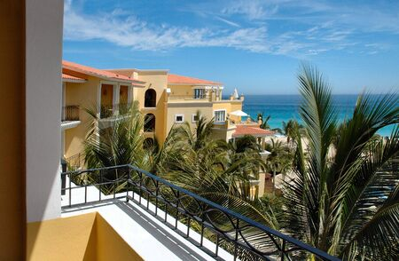lucas: View from balcony at a resort in Cabo San Lucas, Mexico Stock Photo