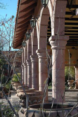 Spanish Columns In Garden