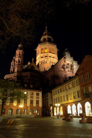 mainz: Mainz Cathedrral Stock Photo