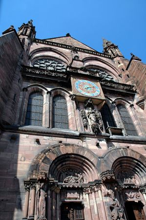 steeples: Strasbourg Cathedral Steeples and Clock