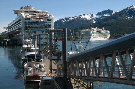 alaska scenic: Cruise Ship In Juneau, Alaska