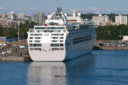 british  columbia: Cruise Ship In Victoria, British Columbia