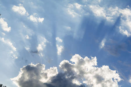 Beautiful sky and white clouds and sunlight Reklamní fotografie