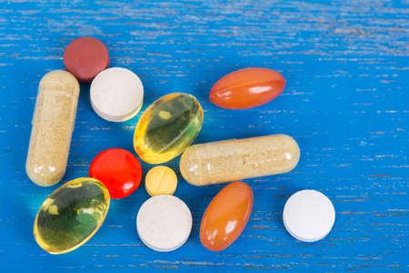 Drug on old wood table