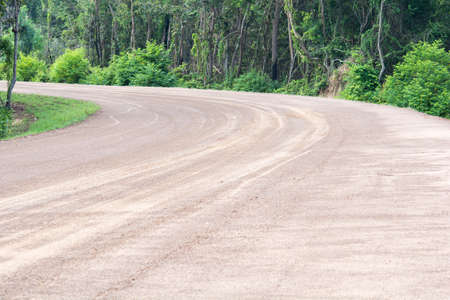 Laterite road in forest