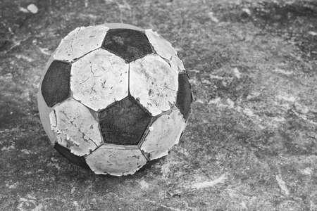 old football black and white Reklamní fotografie