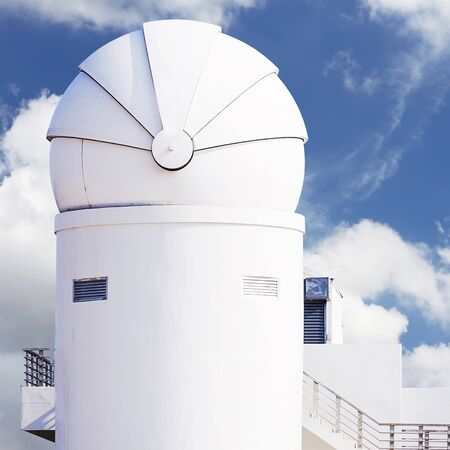 observatory: White observatory in Thailand. Stock Photo
