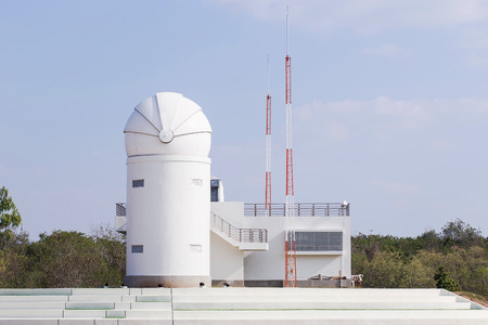 observatory: White observatory in Thailand. Editorial
