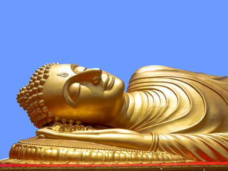 reclining: Reclining Buddha Stock Photo