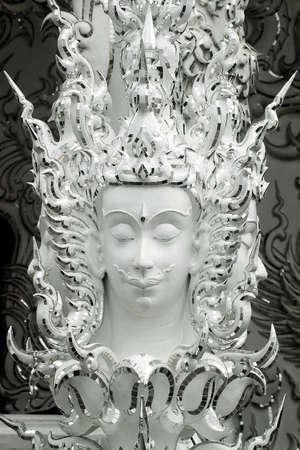 cabeza de buda: Buda cabeza blanca Foto de archivo