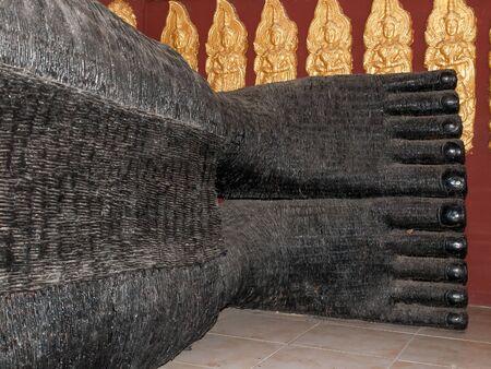 reclining: Foot of Reclining Buddha