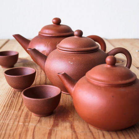 chinese teapot: Chinese teapot and teacup