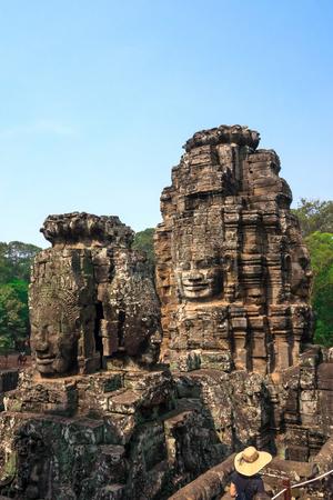 Face of Bodhisattva Loki State Ice King at Bayon Temple, Cambodia.
