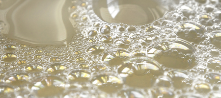 Close up of reflection on the bubble