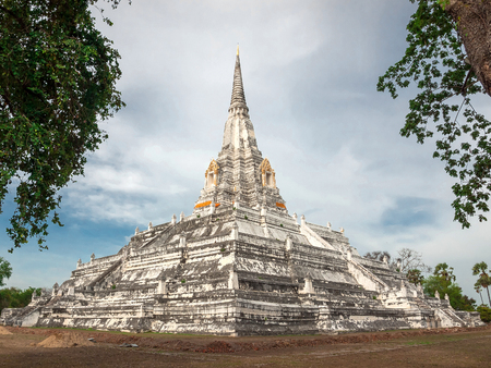 Wat Phu Khao Thong,Buddhist Temple in Ayutthaya Province Thailand