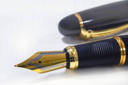 Close up of fountain pen Reklamní fotografie