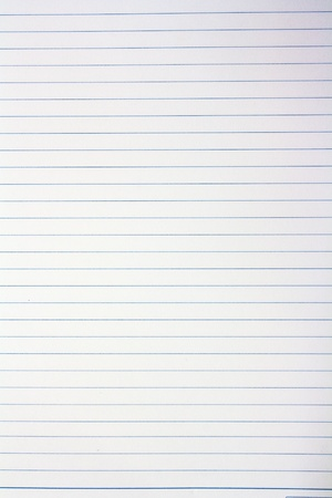 Full frame Blank note paper with blue line