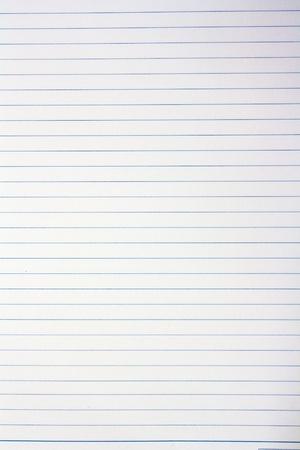 foglio a righe: Full frame vuoto nota carta con linea blu