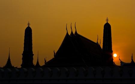 Silhouette of  Wat Phra kaew