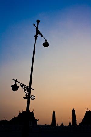 Silhouette of  Wat Phra kaew photo