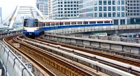 bangkok city: Sky train in Bangkok Editorial