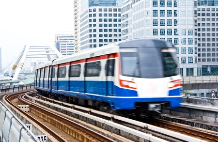 Sky train in Bangkok Editorial