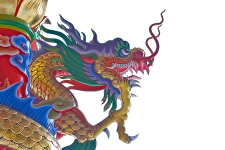 Colorful dragon statues Stock Photo