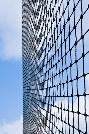 Net with blue sky photo