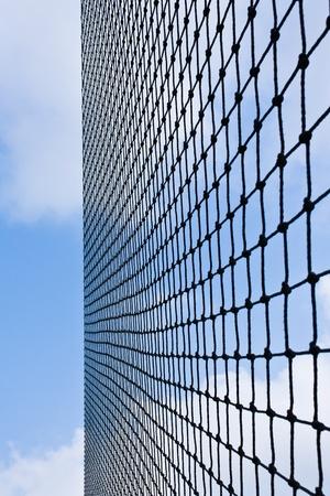 Net with blue sky photo