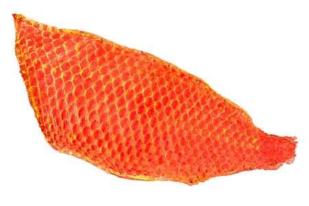 Red fish skin isolation Stock Photo - 10640803