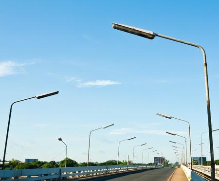 Row of street lamp Stock Photo - 10753918
