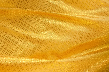 Wave of yellow textile Stock Photo