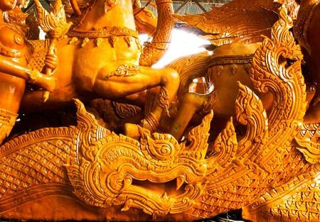 Thai style molding art in Candle Festival at Ubonratchathani Stock Photo - 11128258
