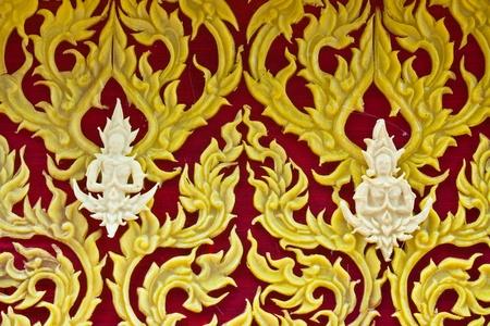 Thai style molding art in Candle Festival at Ubonratchathani photo